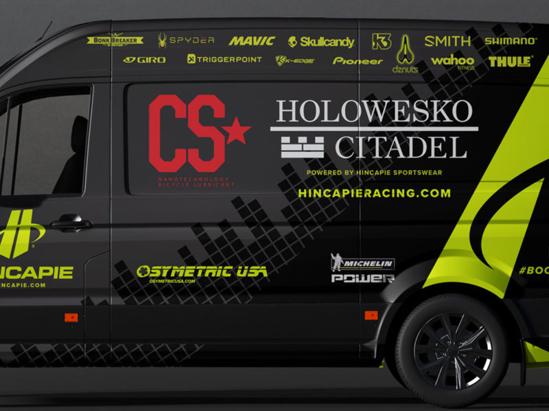 hincapie racing team vehicle wrap
