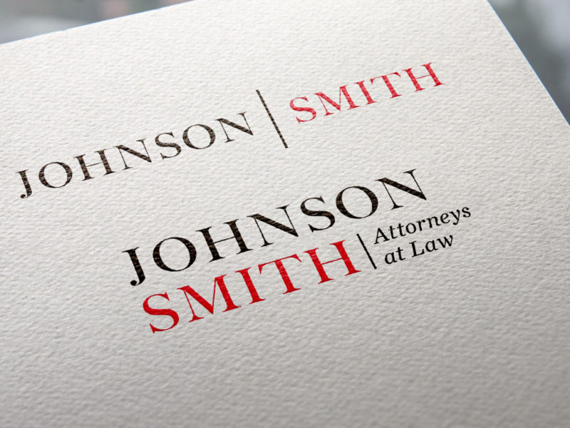 Johnson / Smith lawfirm logo